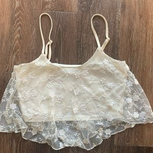 Lace Crop Too Sz S